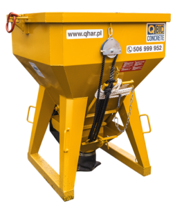 żółty pojemnik na beton