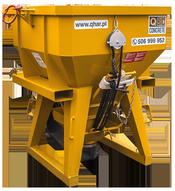 pojemnik na beton QBIC TI PF FU 1000L